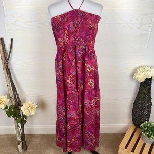 Lane Bryant Floral Smocked Midi Boho Peasant Dress